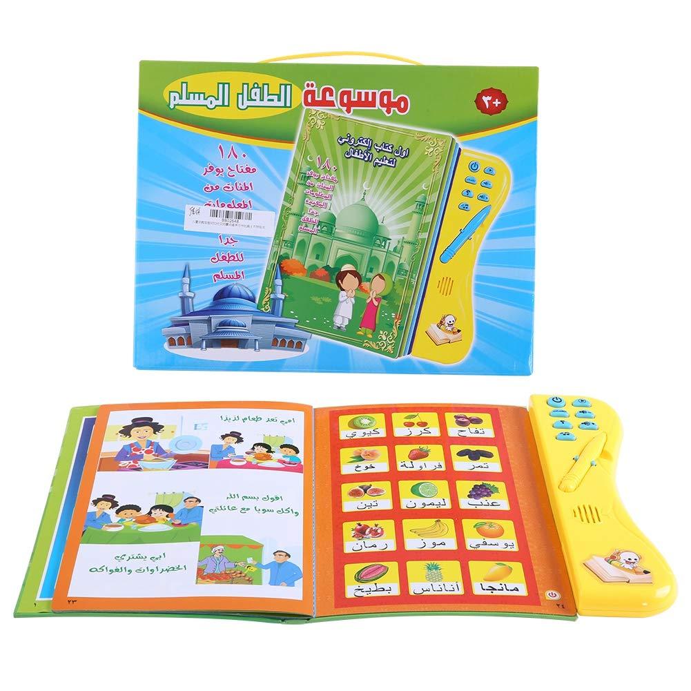 Livre Dapprentissage Enfants Jouet Educatif Electronique Toucher et Apprendre La Langue Arabe Jouets Lecture Multi-Fonctionnelle Jeux Cognitifs pour Enfants