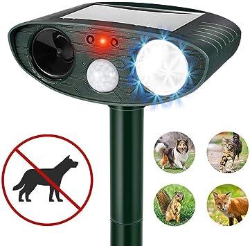 UKE Repelente Solar para Gatos, batería Solar Disuasor de Mascotas Repelente de Animales ultrasónico a Prueba de Agua para jardín Jardín Césped Granja: Amazon.es: Deportes y aire libre