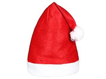 Joyeux Noel Mere Noel.Lot De 6 Bonnets De Pere Noel Mere Noel Qualite Alsino Wm 32 Coloris Rouge Et Blanc Avec Pompon L Accessoire Festif Ideal Pour Les Fetes De Fin