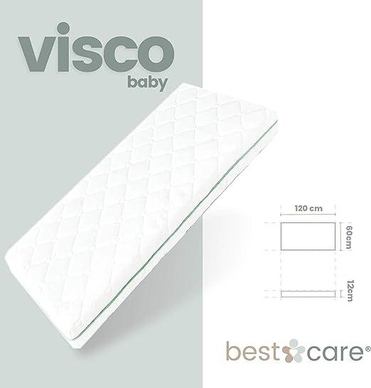gomaespuma Color Blanco 80 x 160 cm LikeInHeaven Paul HR-Colch/ón Infantil de Trigo sarraceno Altura 16 cm H2