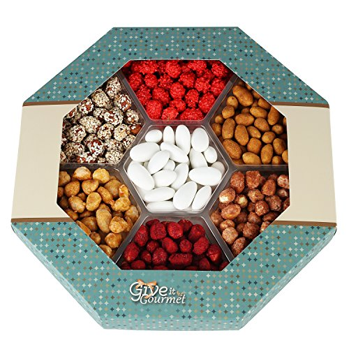 7 Mixed Delicious Nuts - Elegant Gift Basket with 6 Assorted