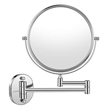 Cozzine Wall Mount Makeup Mirror, 7X Magnifying Two Side Vanity Extendable  Bathroom Mirror, Chrom
