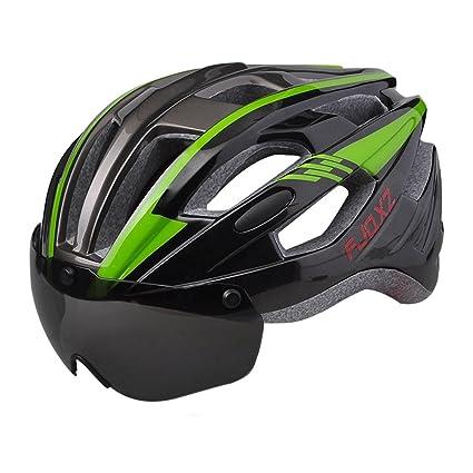Casco De Bicicleta De Montaña, Gafas Desmontables, Sombrero De Equipo De Seguridad De Forma