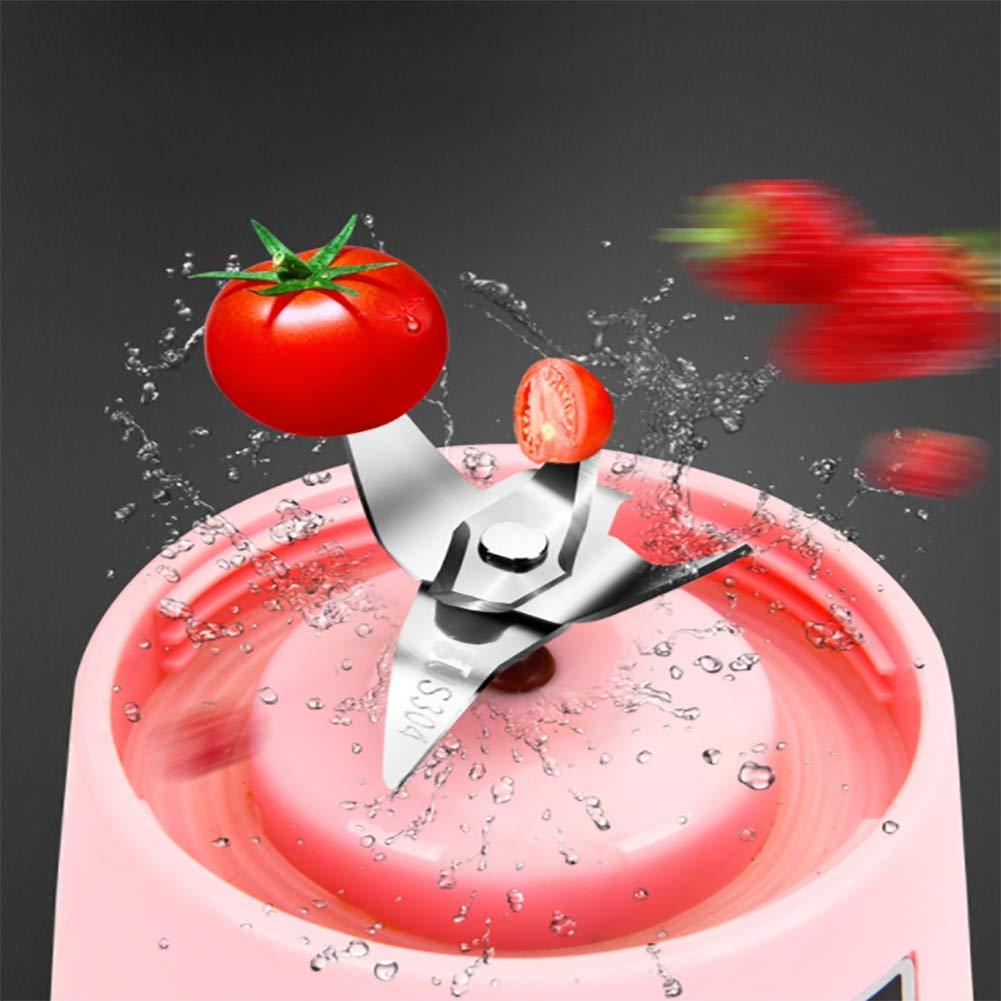 KOSHSH Mini Licuadora Portátil Jugo Taza Máquina USB Recarga Multifuncional Electricidad Exprimidor De Bolsillo Deportes Botella Licuadora,Fruitgreen: ...