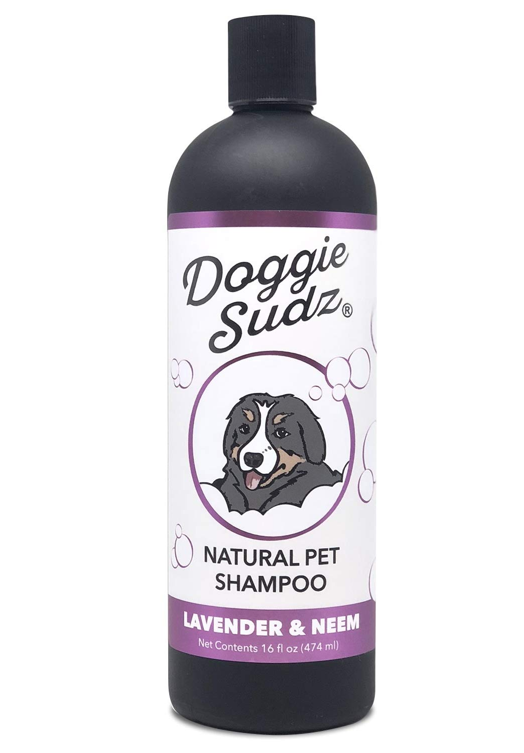Natural Dog Shampoo and Conditioner by Doggie Sudz, Lavender and Neem, 16 Ounce |  Soothing Hypoallergenic Dog Shampoo Infused with Neem Oil for Itchy Skin Relief and Silky Smooth Fur