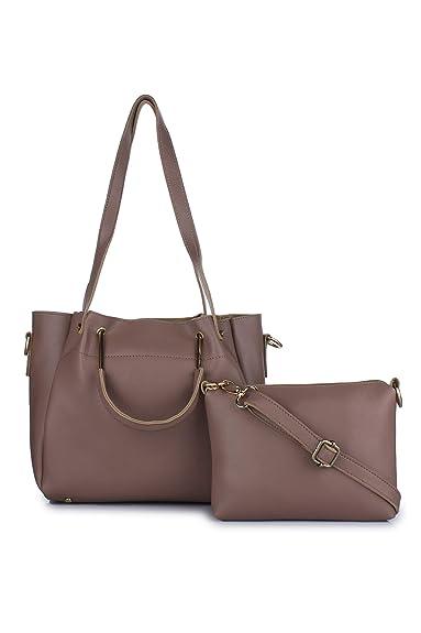 db7eca5b468 Vogue Street Women s PU Handbag and Sling Bag Combo Grey Medium ...