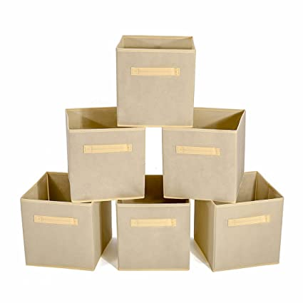 GEMITTO 6 Unidades Caja de Almacenaje, no Tejida Caja de Tela para Almacenaje, Cajas