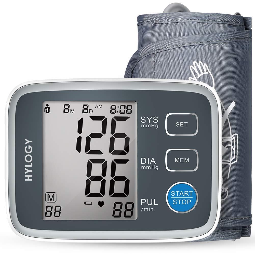 HYLOGY Tensiómetro de Brazo, Tensiómetro de Brazo Automatico Digital, 2 Memorias de Usuario(2 * 90), Detección de Frecuencia Cardíaca Irregular, ...