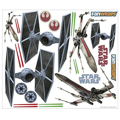 FanWraps Star Wars TIE/X-Wing Vehicle Graphics Kit, Medium