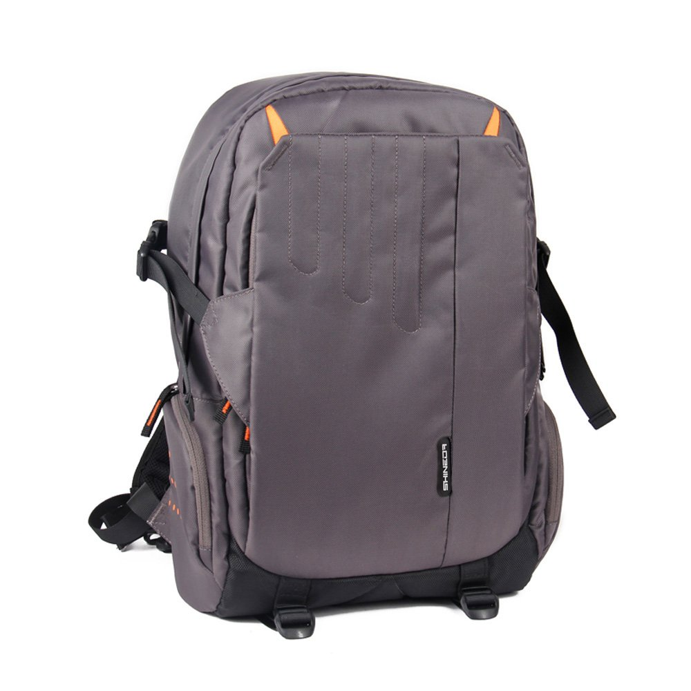 Shineda Water Resistant Lightweight DSLR Nylon Backpack Bag for Nikon Sony Canon with 13 Inch Laptop Pocket (Gray)