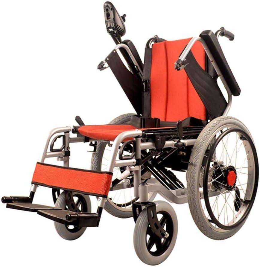 HQB Silla de Ruedas Eléctrica Plegable, Batería de Polímero de Iones de Litio (20 A) - para Personas Mayores Y Discapacitadas,UNA,Un tamaño