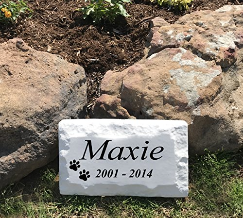 ABC Address Blocks Personalized Pet Memorial Headstone Grave Marker for Cats and Dogs. 9