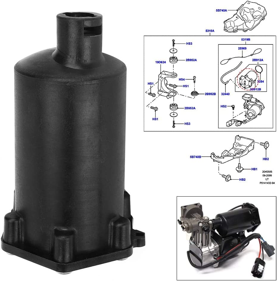Aramox Air Compressor Drier Air Compressor Filter Assembly VUB504700 Fit for Land Rover Range Rover Sport 2005-2013 OE VUB504700