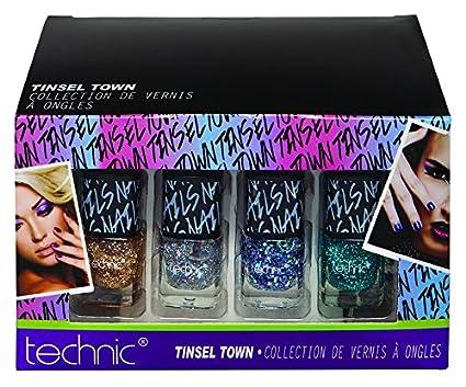 Technic - Estuche 12 Esmalte de uñas pailletés: Amazon.es ...