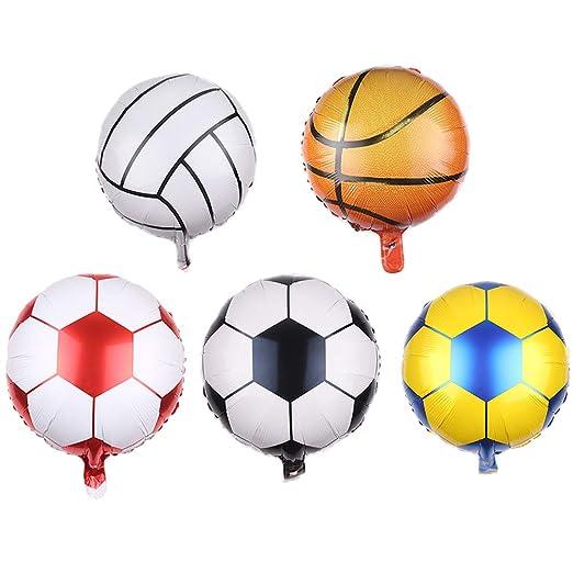 Amosfun - Globos de fútbol y Baloncesto para Fiestas de cumpleaños ...