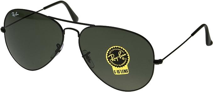 ray ban aviator black polarized 62mm