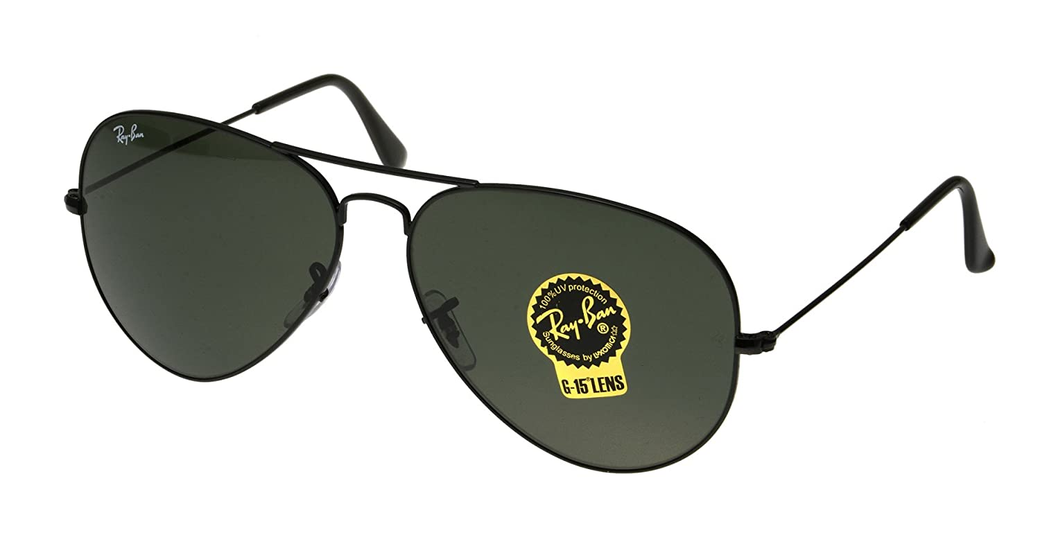 Amazon.com  Ray-Ban Men s 3026 L2821 Aviator, 62-mm, Black  Clothing 021787b0a7