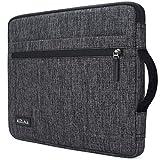 KIZUNA 14 Inch Laptop Sleeve Case Bag Notebook Carrying Handbag for Surface Book/Lenovo Flex 4/14' ThinkPad L480/ThinkPad X1 Carbon 2017/14' EliteBook 840 G5/14.1' Dell New Latitude 7490 2018 - Grey