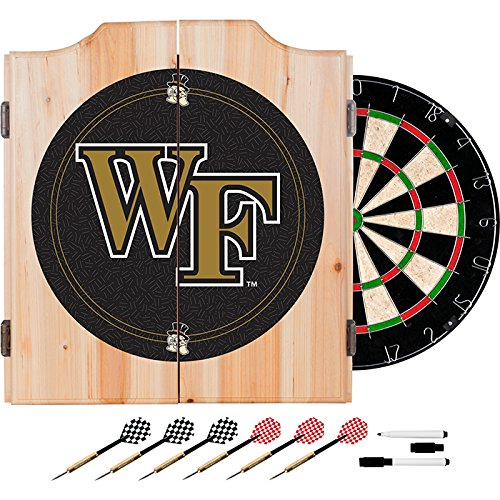 Wake Forest University Deluxe Solid Wood Cabinet Complete Dart Set - Officially Licensed! by TMG