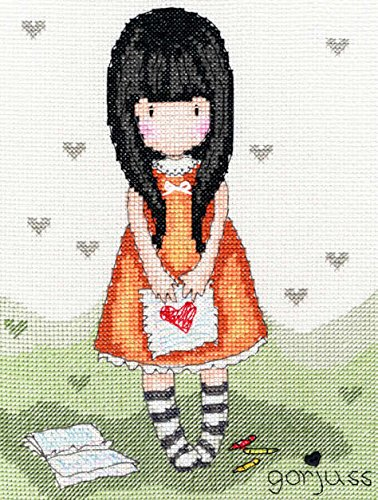 Bothy Threads Gorjuss I Gave You My Heart Cross Stitch Kit