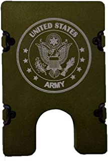 product image for HMC Billet United States Army RFID Protection Credit Card Holder Aluminum Wallet, Green