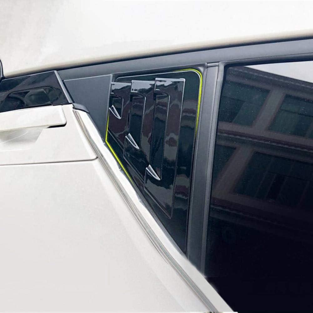 pour Toyota C-HR CHR///2017-2019 JIRENSHU 2 Pcs ABS Stores lat/éraux arri/ère de fen/être v/énitiens Couverture Garniture De Voiture Ext/érieur Pi/èces Accessoires Styling