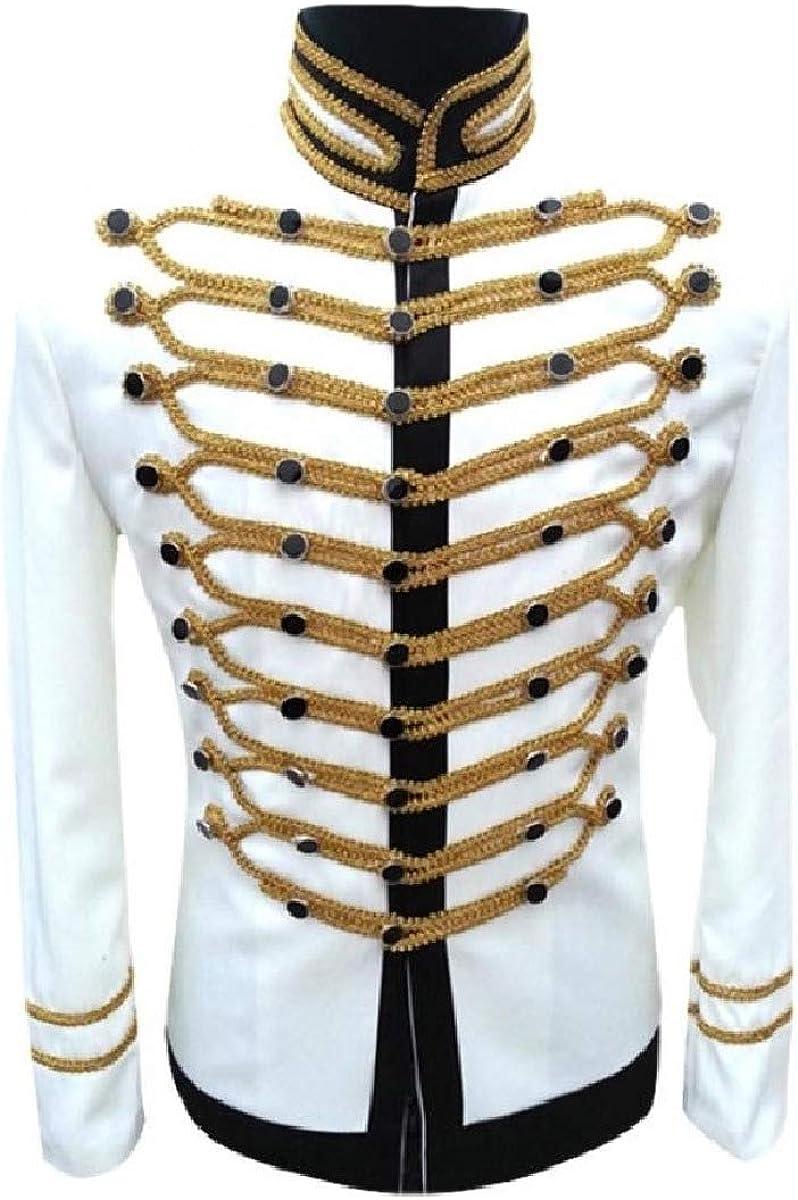 HEFASDM Men Nightclub Blazer DJ Dress Suit Jacket Tuxedo Uniform Outfit
