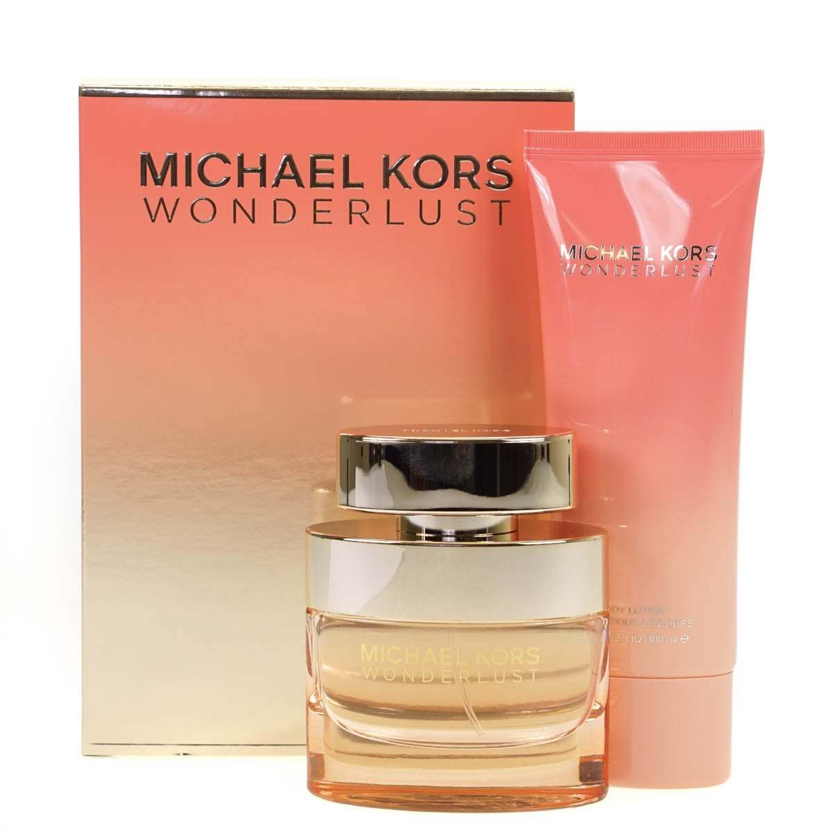 Michael Kors Wonderlust 50ml Eau De Parfum Perfume and 100ml Body Lotion Gift Set
