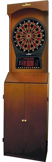 Amazon.com: Arcade-Style Electronic Dartboard Cabinet - Mahogany ...