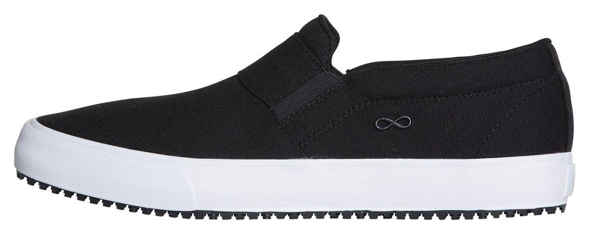 Infinity Footwear Women's Vulcanized Footwear B079FYSP9C 6|Textile Black, White