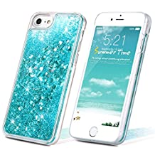 iPhone 6 Case, iPhone 6s Case, SmartLegend Sparkle Flowing Liquid Glitter 3D Bling PC Hard Shell Protective Slim Case Cover for iPhone 6/6S - Blue