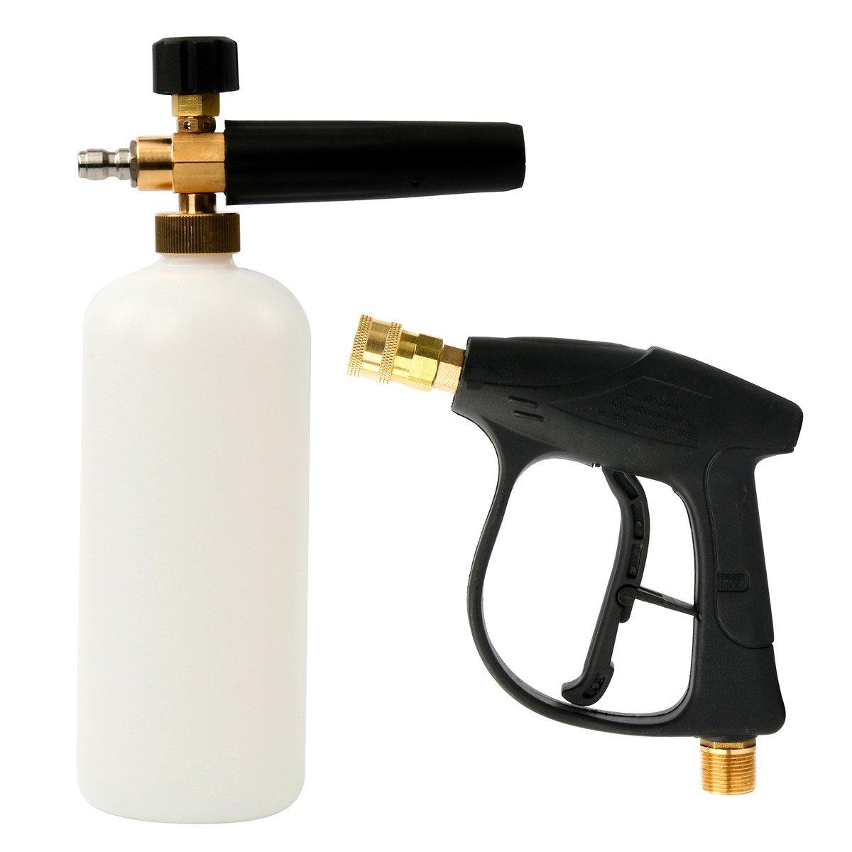 FreeTec pulizia pistola pulizia dispositivo con schiuma 1l neve Schiuma cannone lancia strumento pressione rondella per auto lavaggio Freebirdtrading