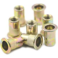 10pcs of each size Atoplee 50pcs M4 M5 M6 M8 M10 Zinc Plated Carbon Steel Rivet Nut Rivnut Insert Nutsert