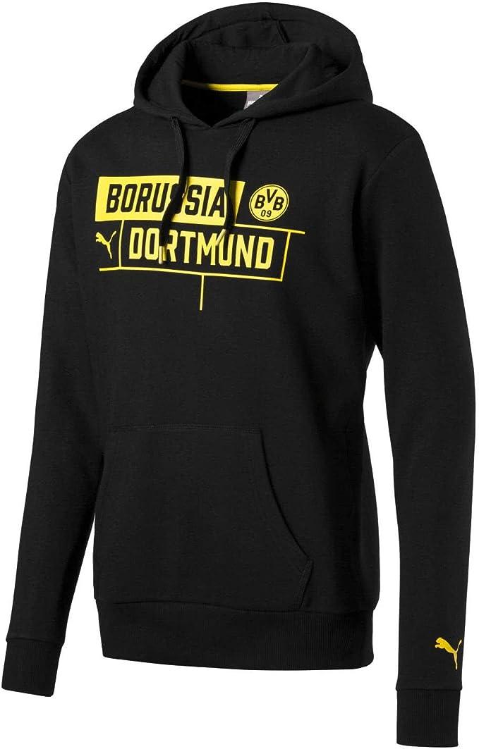 PUMA Herren BVB Borussia Hoody Fleece Pullover