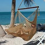 Caribbean Hammocks Polyester Hanging Chair, Large, 48'' L, Tan
