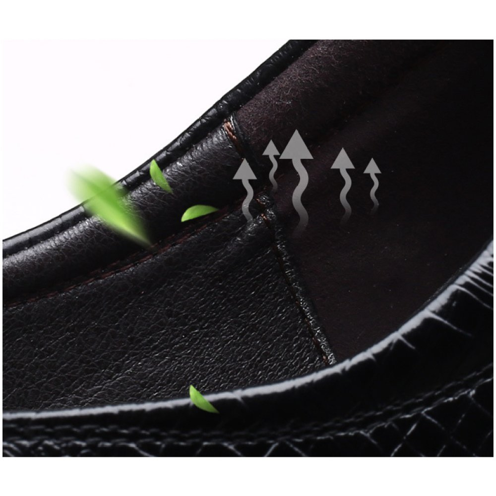 LEDLFIE Männer Krokodil Muster Muster Muster Lederschuhe Formelle Kleidung Business Herrenschuhe Fashion Lace d9f0b1
