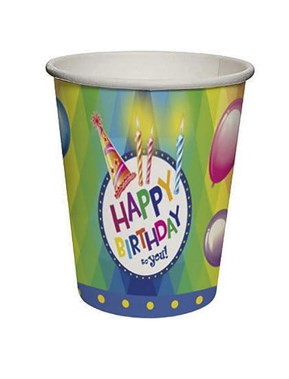 toybakery - Niños Cumpleaños Decorativo para 24 Vasos Vasos ...