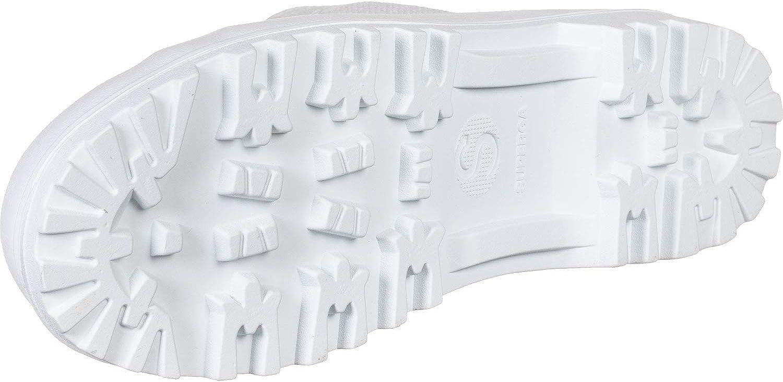 Donna Superga 2341 Cotu Aplina Combat Casuale Moda Flat Caviglia Formatori Bianca