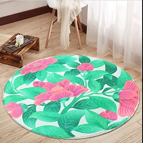 Prime Amazon Com Classic Round Home Art Carpet Lotus Pattern Andrewgaddart Wooden Chair Designs For Living Room Andrewgaddartcom