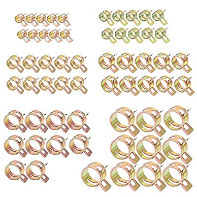 60Pcs 6-15mm Spring Clips Fuel Oil Water Hose Clip Pipe Tube Clamp Fastener?7mm10+9mm10 + 10mm10 + 12mm10 + 14mm10 + 15mm10?