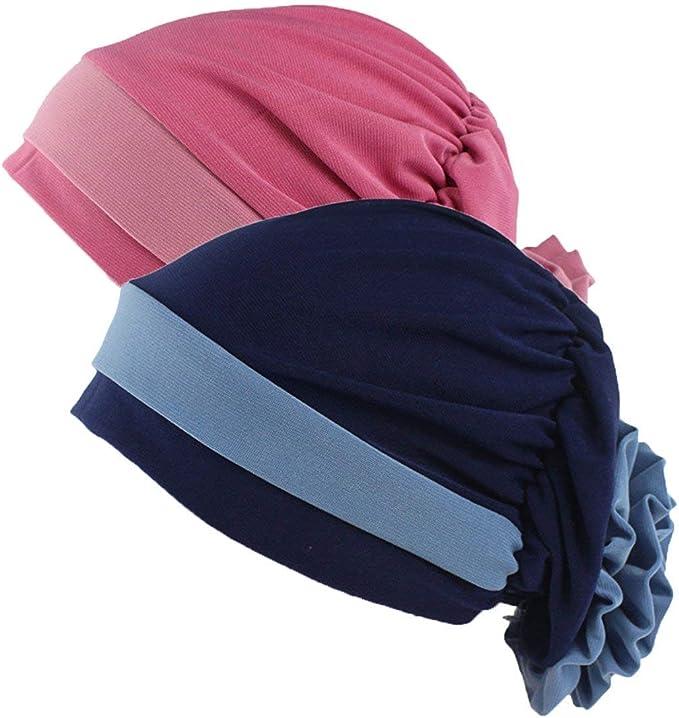 Paquete De 2 Gorros Para Mujer Musulmán Bloque Elegante Turbante ...