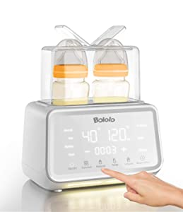 BOLOLO Baby Bottle Fast Milk Warmer & Sterilizer | 7-in-1 Double Bottle Warmer for Breast Milk | 500W Stronger Power | Baby Food Heater with LCD Display | 24H Accurate Temperature Control