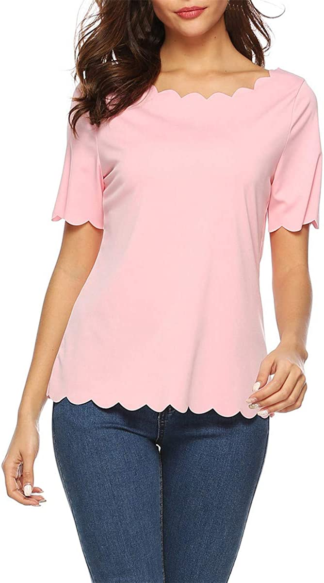 Blouses for Women Fashion 2019 Women Summer Casual Short Sleeve T Shit Blouse Tops Blouse