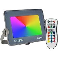 Foco Proyector LED 30W RGB Avance SMD con Chip OSRAM - IP65 Exterior - 5 años de Garantía - Mando a distancia - Rojo…