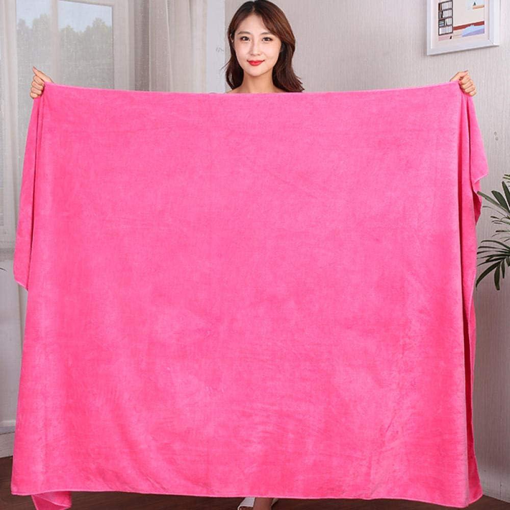 N/A Toalla de baño, Toalla de baño tamaño Queen para Cama, Toalla Grande para Uso doméstico, Toalla de baño Absorbente Larga-Dark Pink_200x100cm