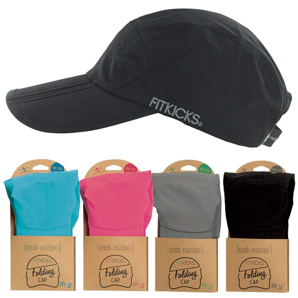 a398fa82d FitKicks Folding Cap w/UPF 50+ Sun Protection, Quick Dry, Breathable ...