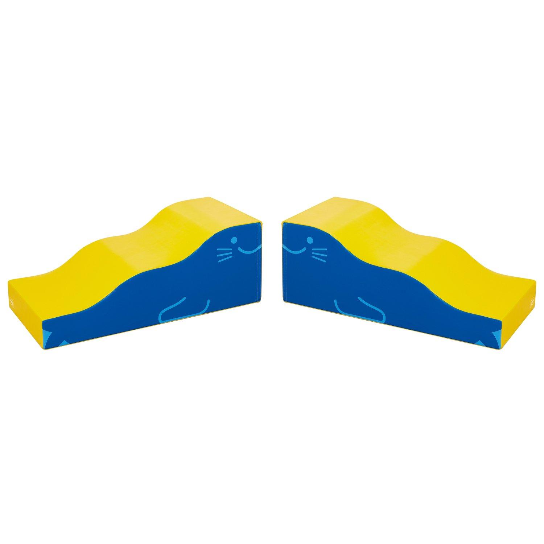 Weplay KM2310 Seelöwe Block Elemente Wellen Rutsche, blau/gelb (2er Pack)