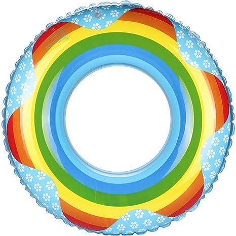 kinokoo Flotador piscina juguete del flotador de Donut-Rainbow Imprimir (azul, 80)