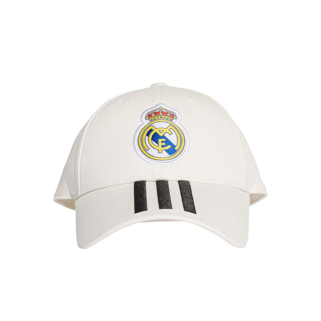 adidas Kid's Real Madrid 3S Cap, Core White/Black, One Size CY5600