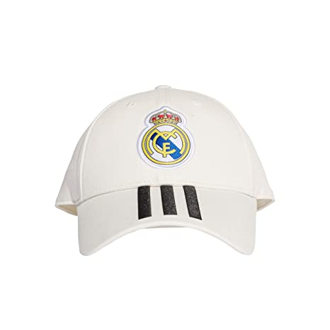 a22838d73ea adidas Soccer Cap Real Madrid Stripes Hat White Training Ronaldo One Size  CY5600